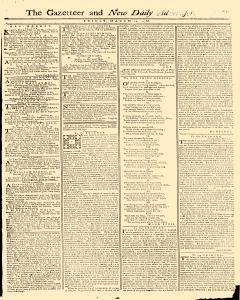 Gazetteer And New Daily Advertiser, March 14, 1766, Page 1