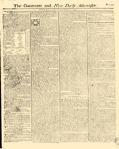 Gazetteer And New Daily Advertiser, March 27, 1766, Page 1