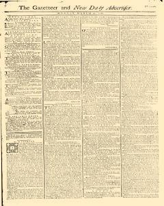 Gazetteer And New Daily Advertiser, March 31, 1766, Page 1
