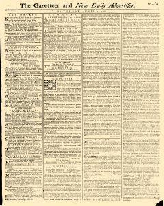 Gazetteer And New Daily Advertiser, April 05, 1766, Page 1