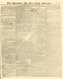 Gazetteer And New Daily Advertiser, April 15, 1766, Page 1