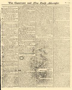 Gazetteer And New Daily Advertiser, April 16, 1766, Page 1