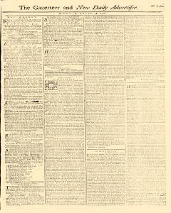 Gazetteer And New Daily Advertiser, April 28, 1766, Page 1