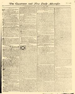Gazetteer And New Daily Advertiser, April 30, 1766, Page 1