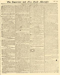Gazetteer And New Daily Advertiser, May 01, 1766, Page 1
