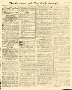 Gazetteer And New Daily Advertiser, June 06, 1766, Page 1