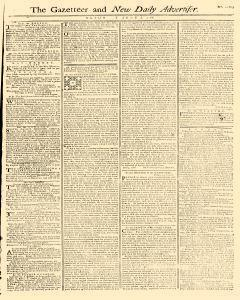 Gazetteer And New Daily Advertiser, June 07, 1766, Page 1