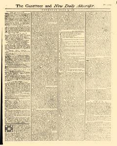Gazetteer And New Daily Advertiser, June 19, 1766, Page 1