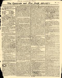 Gazetteer And New Daily Advertiser, July 30, 1766, Page 1