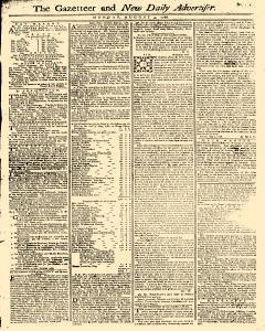 Gazetteer And New Daily Advertiser, August 04, 1766, Page 1