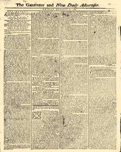 Gazetteer And New Daily Advertiser, August 08, 1766, Page 1