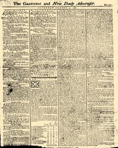 Gazetteer And New Daily Advertiser, August 23, 1766, Page 1