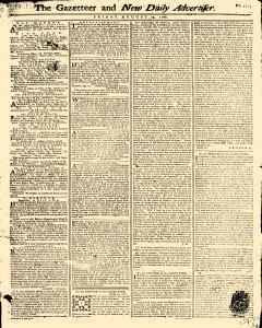 Gazetteer And New Daily Advertiser, August 29, 1766, Page 1