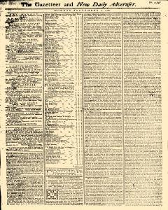 Gazetteer And New Daily Advertiser, September 01, 1766, Page 1