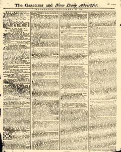 Gazetteer And New Daily Advertiser, September 10, 1766, Page 1