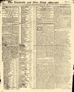 Gazetteer And New Daily Advertiser, September 12, 1766, Page 1