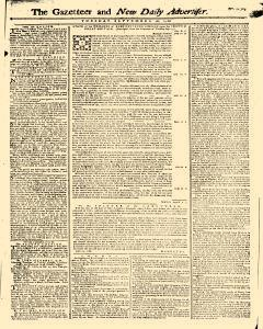 Gazetteer And New Daily Advertiser, September 16, 1766, Page 1