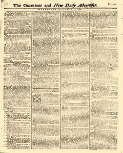 Gazetteer And New Daily Advertiser, October 15, 1766, Page 1