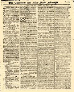 Gazetteer And New Daily Advertiser, October 20, 1766, Page 1