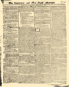 Gazetteer And New Daily Advertiser, November 05, 1766, Page 1