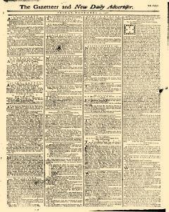 Gazetteer And New Daily Advertiser, November 07, 1766, Page 1