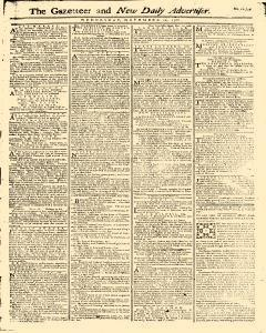 Gazetteer And New Daily Advertiser, November 12, 1766, Page 1