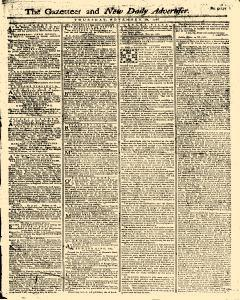Gazetteer And New Daily Advertiser, November 20, 1766, Page 1