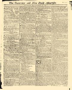 Gazetteer And New Daily Advertiser, November 21, 1766, Page 1