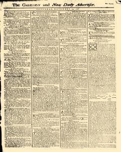 Gazetteer And New Daily Advertiser, November 29, 1766, Page 1
