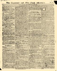 Gazetteer And New Daily Advertiser, December 09, 1766, Page 1