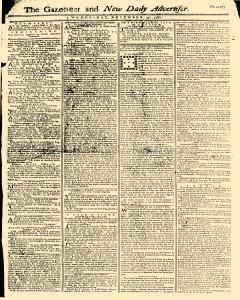 Gazetteer And New Daily Advertiser, December 10, 1766, Page 1