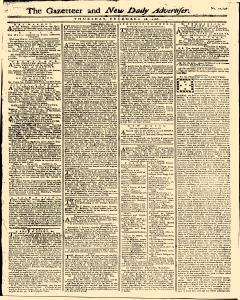 Gazetteer And New Daily Advertiser, December 18, 1766, Page 1