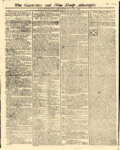 Gazetteer And New Daily Advertiser, December 20, 1766, Page 1