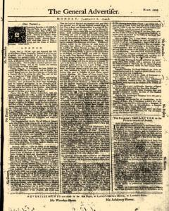 General Advertiser, January 06, 1745, Page 1