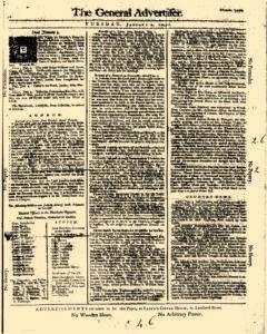 General Advertiser, January 07, 1745, Page 1
