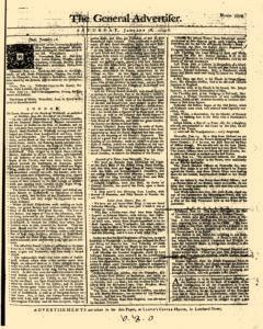 General Advertiser, January 18, 1745, Page 1