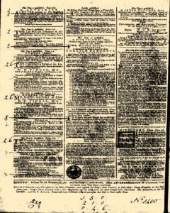 General Advertiser, January 20, 1745, Page 4