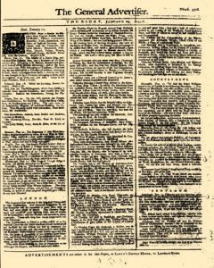 General Advertiser, January 23, 1745, Page 1