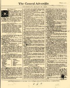 General Advertiser, January 28, 1745, Page 1