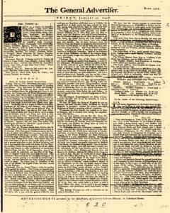 General Advertiser, January 31, 1745, Page 1
