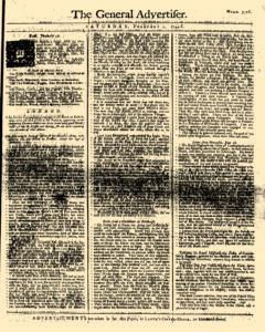 General Advertiser, February 01, 1745, Page 1
