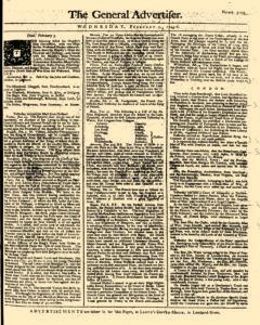 General Advertiser, February 05, 1745, Page 1