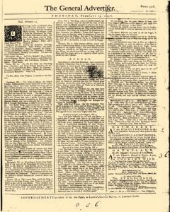 General Advertiser, February 13, 1745, Page 1