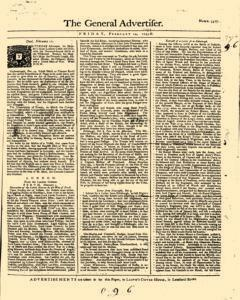 General Advertiser, February 14, 1745, Page 1