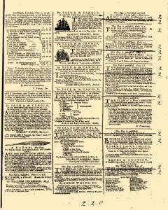 General Advertiser, February 14, 1745, Page 3