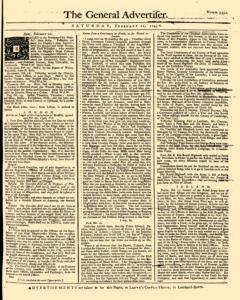 General Advertiser, February 22, 1745, Page 1