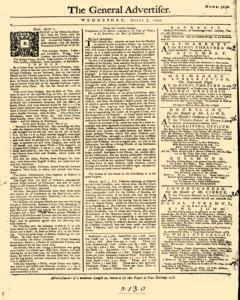 General Advertiser, April 03, 1745, Page 1