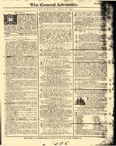 General Advertiser, April 06, 1745, Page 1