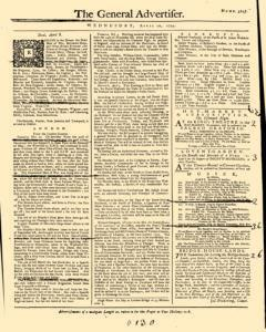 General Advertiser, April 10, 1745, Page 1