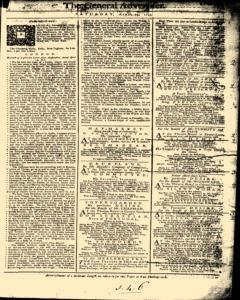 General Advertiser, April 13, 1745, Page 1